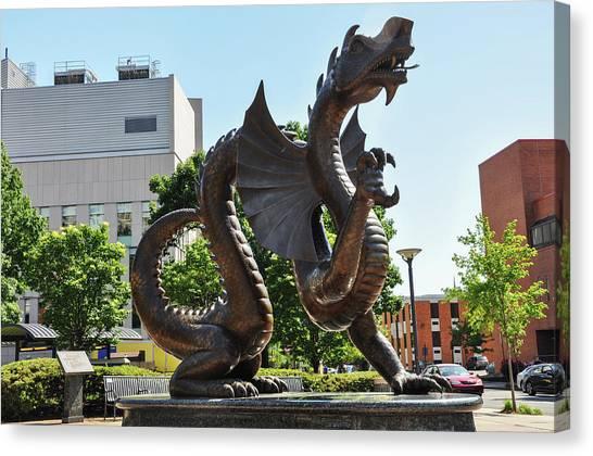 Drexel University Canvas Print - Drexel University Dragon - Philadelphia Pa by Bill Cannon