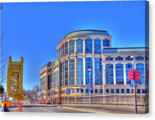 Caa Canvas Print - Drexel University With Tower Bridge by Randy Wehner Photography