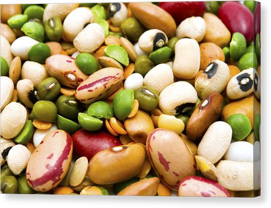 Dried Legumes And Cereals Canvas Print