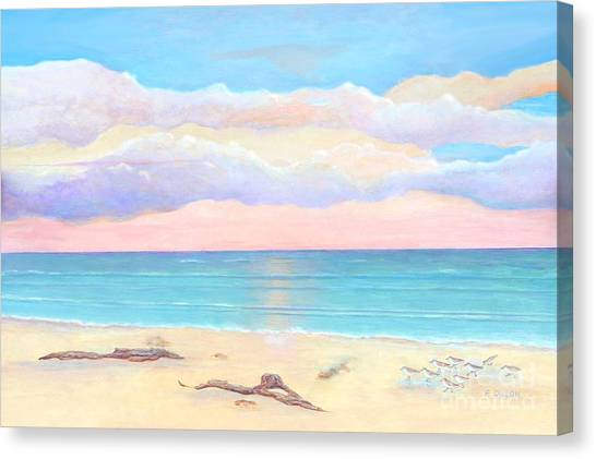 Driftwood Beach Canvas Print by Frances  Dillon