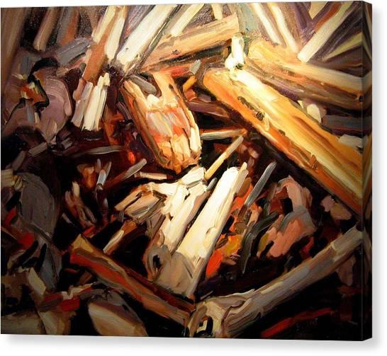 Driftwood Canvas Print by Brian Simons