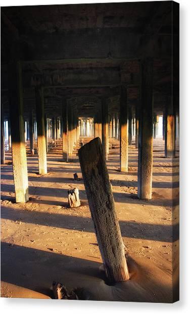 Santa Monica Pier Canvas Print - Driftwood by Martin Newman