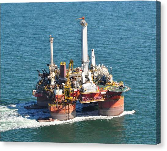 Drilling Rig Canvas Print by Bill Perry
