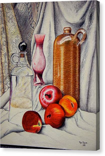Drink And Fruit Canvas Print by Ron Sylvia