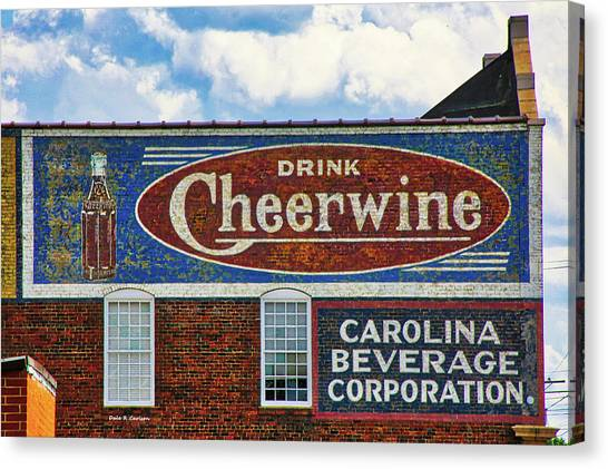 Cheerwine Canvas Print - Drink Cheerwine by Bluemoonistic Images