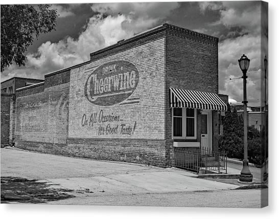 Cheerwine Canvas Print - Drink Cheerwine Bw 10 by Joseph C Hinson Photography