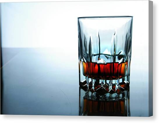 Gin Canvas Print - Drink In A Glass by Jun Pinzon