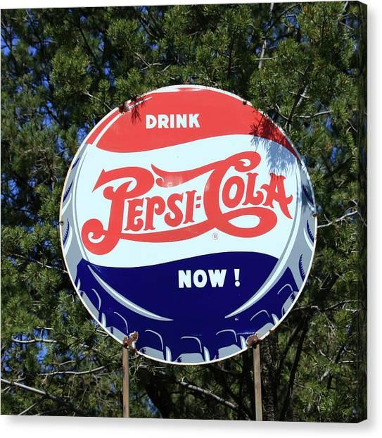 Drink Pepsi - Cola Now  Canvas Print