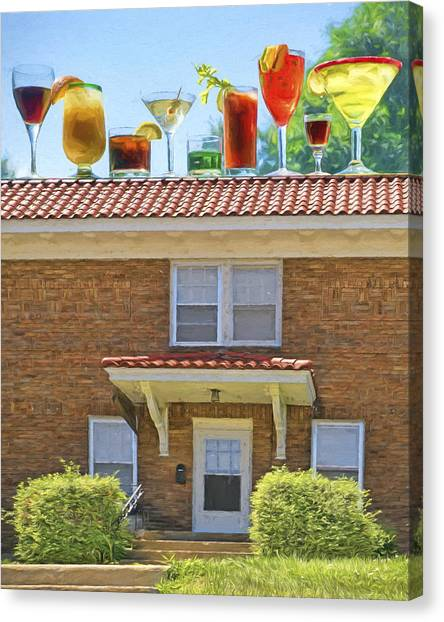 Bloody Mary Canvas Print - Drinks On The House by Nikolyn McDonald