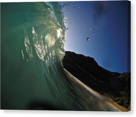 Bodyboard Canvas Print - Drip Drop Rays by Benen  Weir