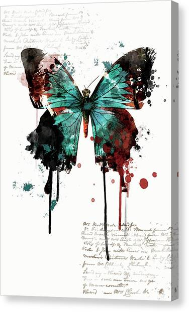 Dripping Butterfly Canvas Print