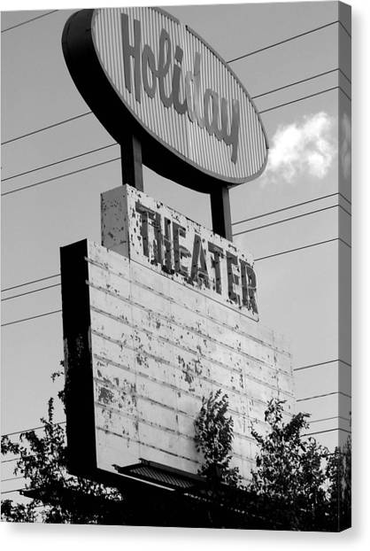 Drive-in Canvas Print by Audrey Venute
