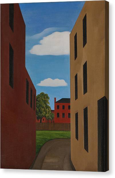 Precisionism Canvas Print - Driveway - Newark by George Ault