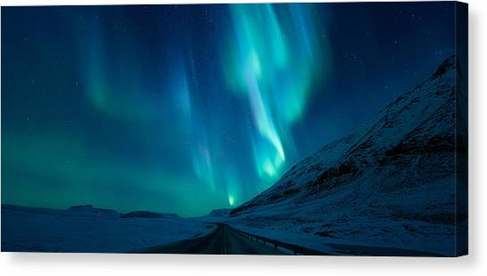 Norway Canvas Print - Driving Home by Tor-Ivar Naess