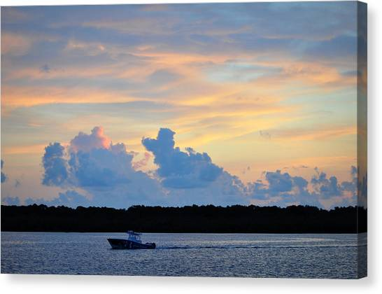 Driving Into Sunset Canvas Print by Rose  Hill
