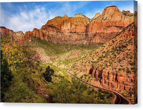 Driving Into Zion Canvas Print