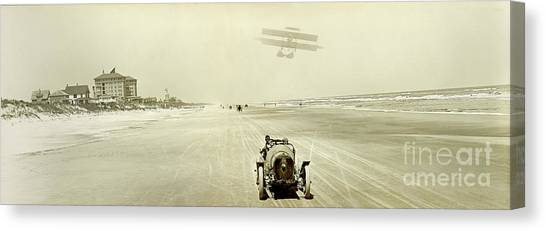 Daytona 500 Canvas Print - Driving On The Beach by Jon Neidert