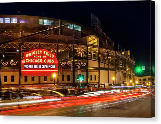 Chicago Cubs Canvas Print - Driving Past History by Andrew Soundarajan