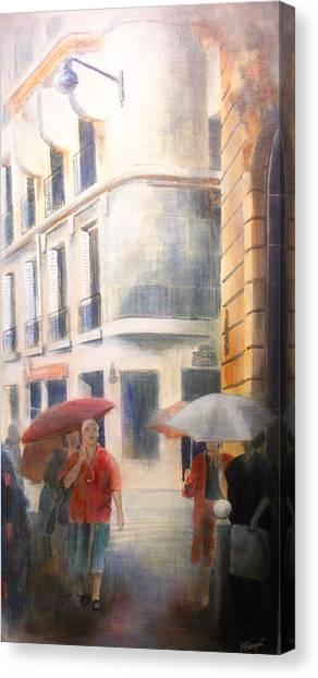 Drizzle Canvas Print by Victoria Heryet