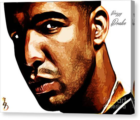 Drake Canvas Print - Drizzy Drake by The DigArtisT