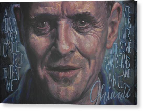 Silence Of The Lambs Canvas Print - Dr.lecter by Todd Trainer