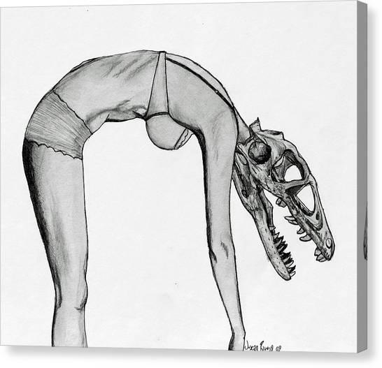 Dromaeosaurus Canvas Print