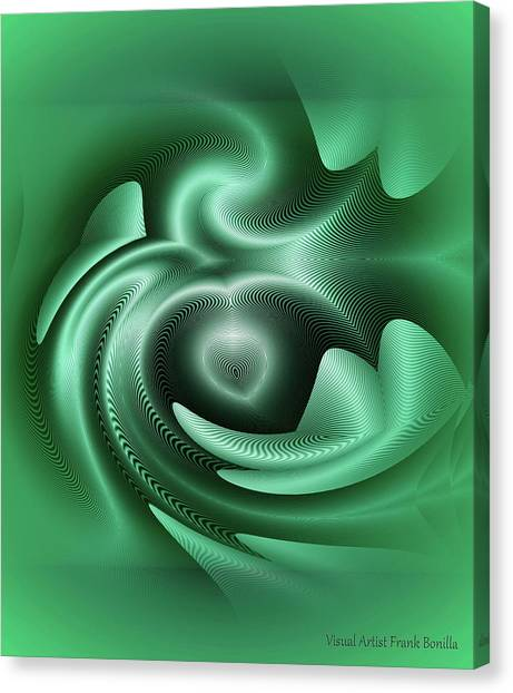 Canvas Print featuring the digital art Drone by Visual Artist Frank Bonilla