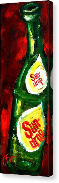 Mountain Dew Canvas Print - Drop Of Sun by Carole Foret