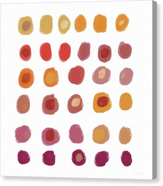 Pattern Canvas Print - Drops Of Fall Color- Art By Linda Woods by Linda Woods