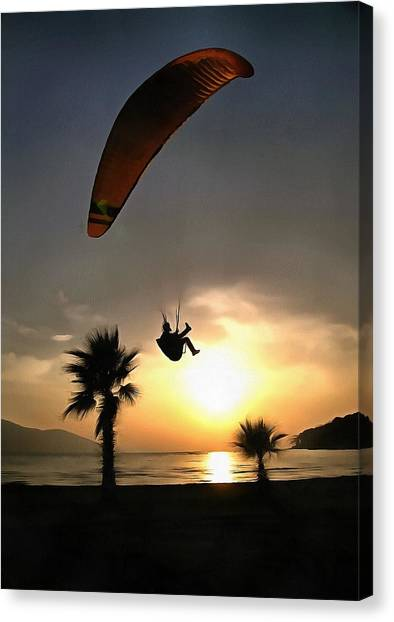 Dropzone At Dusk Canvas Print