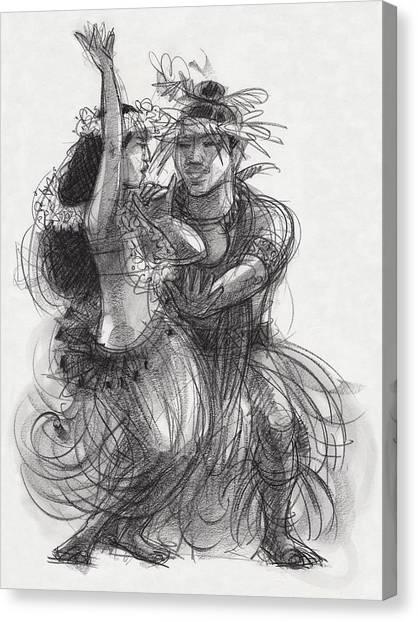 Drum Dance Pas-de-deux Canvas Print