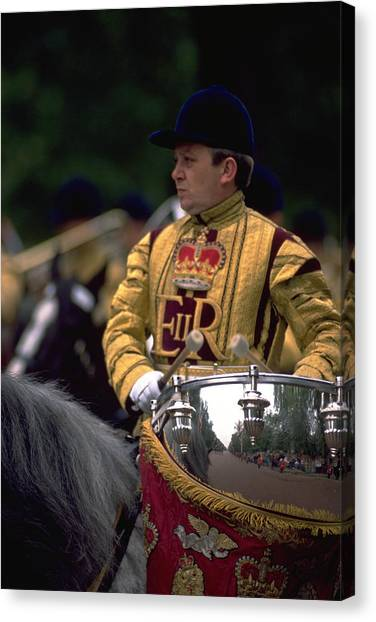 Michel Guntern Canvas Print - Drum Horse At Trooping The Colour by Travel Pics