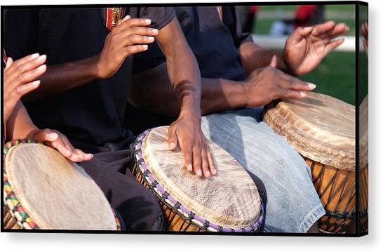 Drum Rhythm Canvas Print