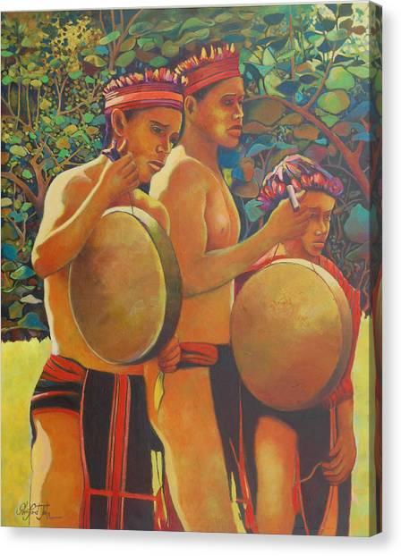 Drumbeat Of The Kalinago Canvas Print