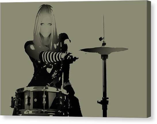 Red Rock Canvas Print - Drummer by Naxart Studio