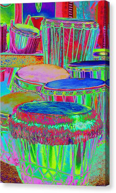 Drums Of Change Canvas Print by Richard Henne