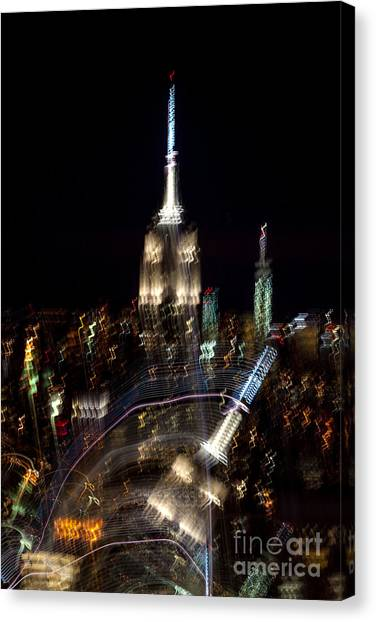 Abstract Skyline Canvas Print - Drunk Town by Az Jackson