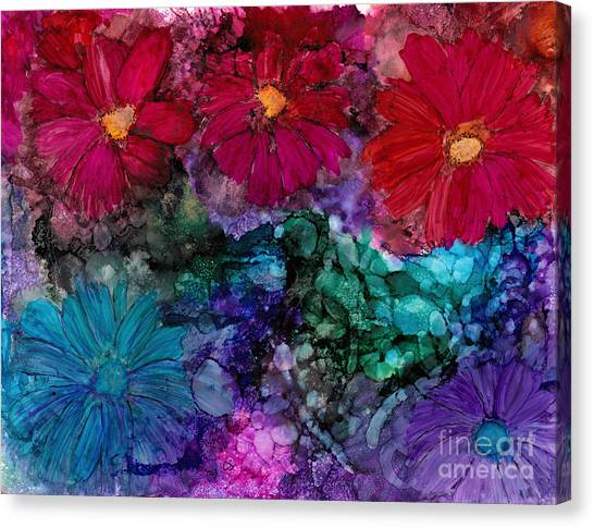 Drunken Flowers Canvas Print