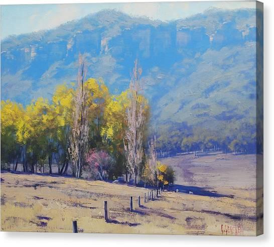 Homestead Canvas Print - Dry Autumn  by Graham Gercken
