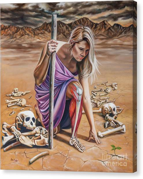 Prophetic Art Canvas Print - Dry Bones by Ilse Kleyn