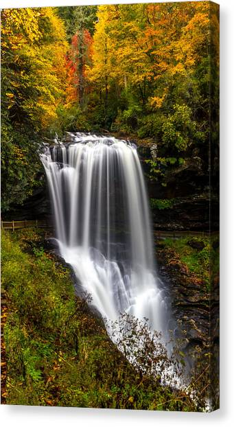 Dry Falls In October  Canvas Print
