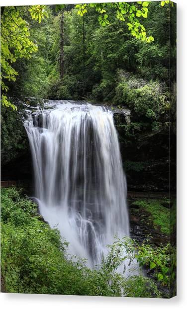 Cullasaja Falls Canvas Print - Dry Falls Is Not Dry II by Carol R Montoya