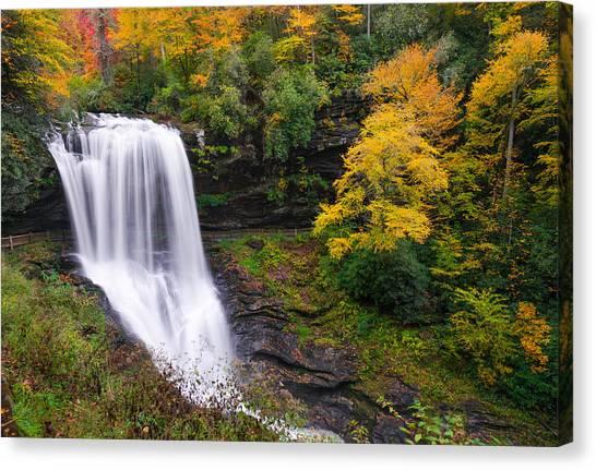Dry Falls Highlands North Carolina Canvas Print
