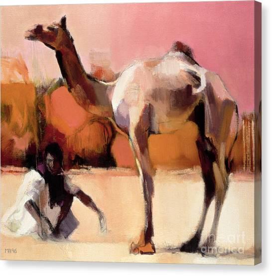 Keeper Canvas Print - dsu and Said - Rann of Kutch  by Mark Adlington
