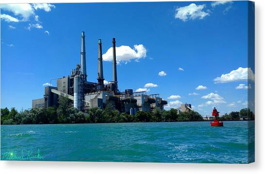 Canvas Print - Dte River Rouge Power Plant by Michael Rucker