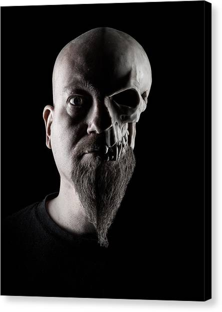 Horror Canvas Print - Duality by Petri Damsten