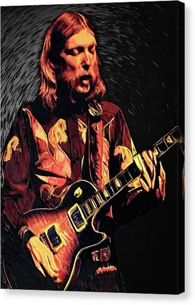 Southern Rock Canvas Print - Duane Allman by Zapista Zapista