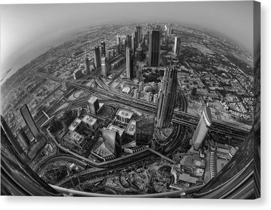 Dubai Skyline Canvas Print - Dubai At The Top by Robert Work