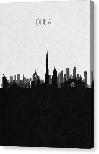 Dubai Skyline Canvas Print - Dubai Cityscape Art by Inspirowl Design