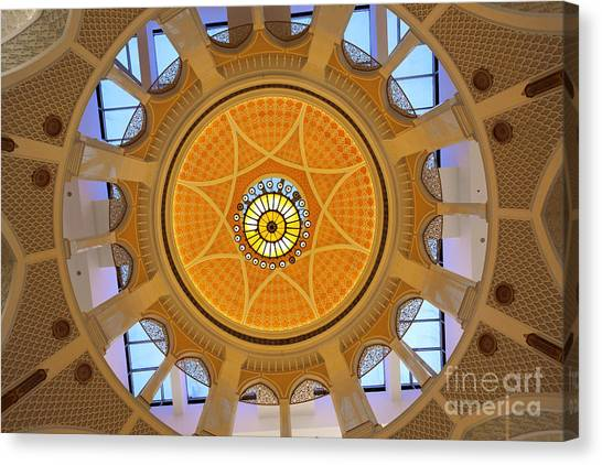 Canvas Print featuring the photograph Dubai Mall Dome  by Juergen Held